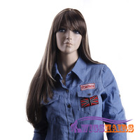 "26"" long Straight with Bangs Synthetic Wigs for Women Basic Cap Colorful"