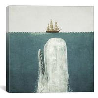 iCanvas 'White Whale Square - Terry Fan' Giclee Print Canvas Art,