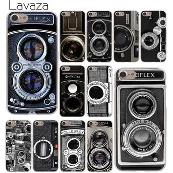 Lavaza Old style Vintage Camera Phone Hard Cover Case for Apple iPhone 10 X 8 7 6 6s Plus 5 5S SE 5C 4 4S Coque Shell  Cover 1