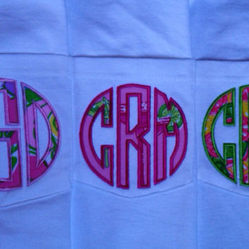 Lilly Pulitzer monogram pocket t-shirt Great Bridesmaid Gifts