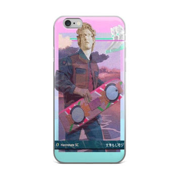 Back To The Future Apollo Statue Vaporwave Pink iPhone 4 4s 5 5s 5C 6 6s 6 Plus 6s Plus 7 & 7 Plus Case