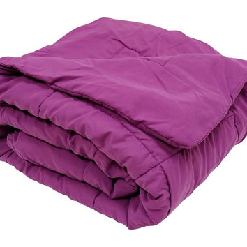 HIGH QUALITY OVERSIZED DOWN ALTERNATIVE COMFORTER SUPER SOFT 90 GSM- PURPLE - CHOICE OF 2 SIZES