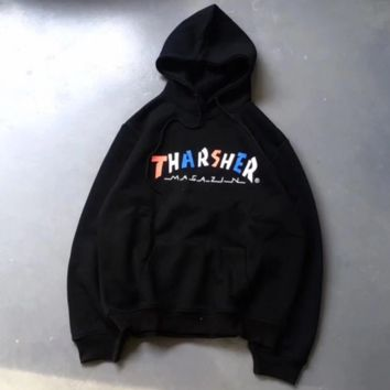 Thrasher Fashion Casual Trending Long Sleeve Pullover Hoodie Sweater B-YZ CPGC(ZZXD)