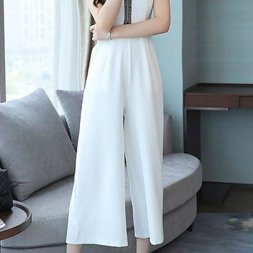 A  Chicloth Casual Beaded Daytime Jumpsuit