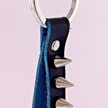 Genuine Leather Key Rings - 4 Styles!  Spiked Keychains