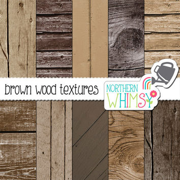 Natural Wood Digital Paper Pack – shabby brown wood patterns for scrapbooking – natural wood textures – printable paper - commercial use