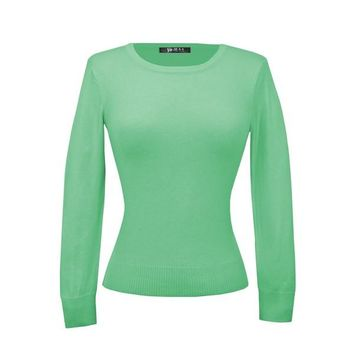 MAK Pullover Sweaters in Mint Green