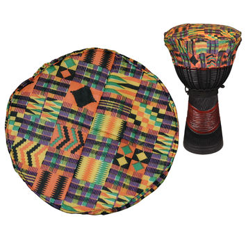 "Kente Cloth Djembe Hat for 12"""" Diameter Djembe Head"