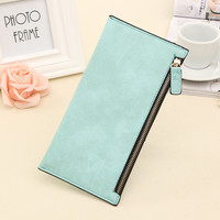 2016 New Long Style Letter Nubuck women wallets Female Lovely wallet card holder coin purse Holders