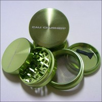 Med. Authentic Cali Crusher® Ultra Premium Luxury Herb Grinder 4 Piece GREEN (cc-6-GRN)
