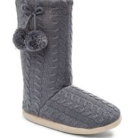 Cable Knit Boot Slipper