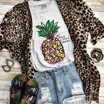 Be Wild & Stay Sweet Pineapple Graphic Tee (S-2XL)