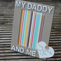 Daddy and Me personalised wooden photograph frame