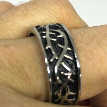 Vintage Crown of Thorns stanless sreel band Ring