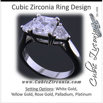 Cubic Zirconia Engagement Ring- The Welden (Cathedral-Set Assche bedc54e3b2a4