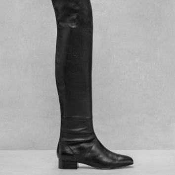 & Other Stories | Over-Knee Leather Boots | Black