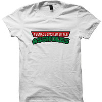 TEENAGE SPOILED LITTLE ASSHOLES T-SHIRT TMNT T-SHIRT #TMNT TEENAGE MUTANT NINJA TURTLES FUNNY CARTOONS BIRTHDAY GIFTS CHRISTMAS GIFTS from CELEBRITY COTTON
