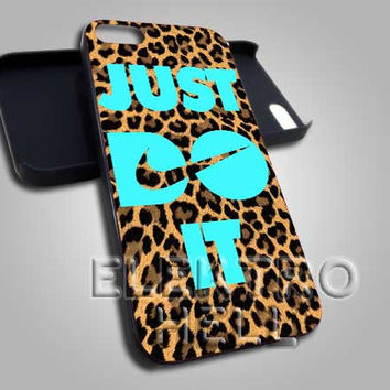 Mint Just Do It Leopard - iPhone 4/4s/5 Case - Samsung Galaxy S3/S4 Case - Black or White