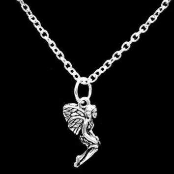 Fairy Mythical Creature Fantasy Mythology Girl Gift Charm Necklace