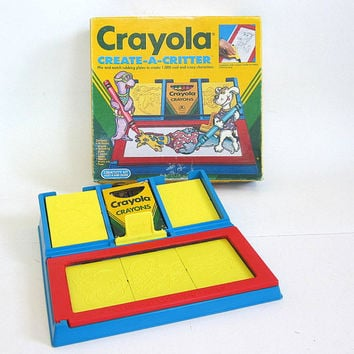 Vintage 1991 Crayola crayons Create-a-Critter Coloring Plates / complete