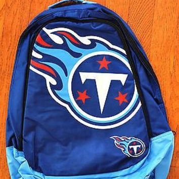 Tennessee Titans BackPack / Back Pack Book Bag NEW - TEAM COLORS BIG LOGO