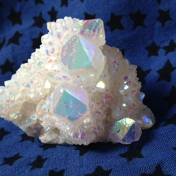 Rainbow Cactus Quartz, Spirit Quartz Crystal, Healing, Metaphysical, Rainbow Spirit Quartz, Love, Happiness, Harmony, Fairy, Free Shipping