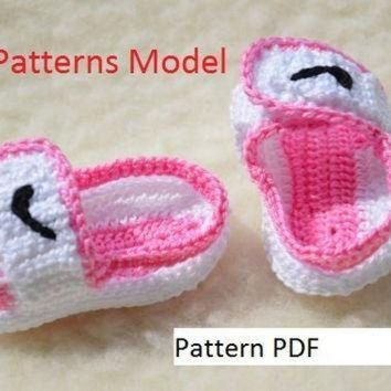 CROCHET PATTERN -Nike Air Jordan sandals nike Crochet Baby Booties pattern
