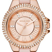 Women's Michael Kors 'Petite Camille' Crystal Bezel Bracelet Watch, 26mm