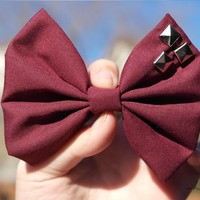 Studded Oxblood from OHMYBOWS
