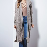 Say What Maxi Duster Cardigan - Womens Sweater