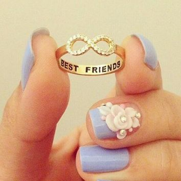 Best Friend Matching Gift Infinity Ring