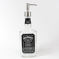 Jack Daniels Dispenser, Soap Dispenser, Lotion Dispenser, Upcycled Bottle