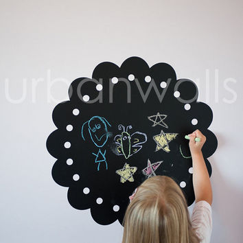 Chalk Wall Decal, Frame, Childrens Room Decal