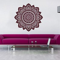 Wall Decal Mandala Vinyl Sticker Decals Lotus Flower Yoga Namaste Indian Ornament Moroccan Patern Om Home Decor Art Bedroom Design Interior C557