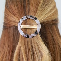 Circle Up Barrette - Ivory