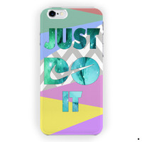 Nike Just Do It With Chevron Block For iPhone 6 / 6 Plus Case
