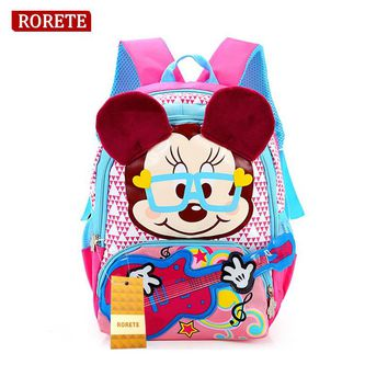 Primary Children Cartoon mickey for gril School Bags Kids Cartoon Backpack kindergarten Waterproof Schoolbags Satchel