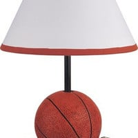 15.75-Inch Antique Resin Youth Basketball Table Lamp  - Milton Greens Stars A31604BA-U