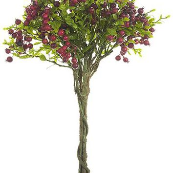 "Bundle of Artificial Berries in Red - 16"" Tall"