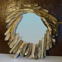 BoGaLeCo.com / Decorative objects / driftwood / Frame / Shaving Mirrors
