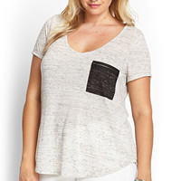 Marled Zipper Pocket Tee