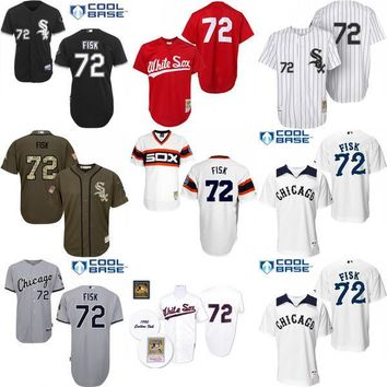 Throwback Green Carlton Authentic baseball Jersey , Men's 72 Mitchell And Ness Chicago White Sox baseball Jersey stitched s-4xl