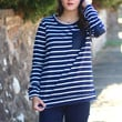 For the Love of Stripes + Suede {Navy}