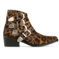 Toga Pulla leopard print ankle boots
