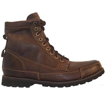 Timberland Earthkeepers Rugged - Burnished Dark Brown Leather Lace-Up Boot