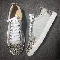 Cl Christian Louboutin Low Style #2008 Sneakers Fashion Shoes