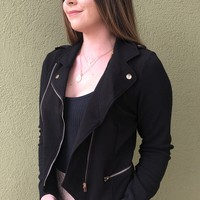 In The Night Jacket- Black