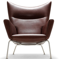 Hans Wegner: Limited Edition Wegner CH445 Wing Chair & Stool - Danish Design Store