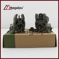 - Sight Set Front And Rear Folding Sights rifle scope hunting picatinny rails Olive Drab Black Dark Earth