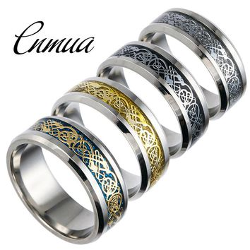 Hot Sell Dragon Ring Titanium Steel Jewelry Hollow Silver Dragon Ring New Fashion Men's Large Size Rings 5 6 7 8 9 10 11 12 13